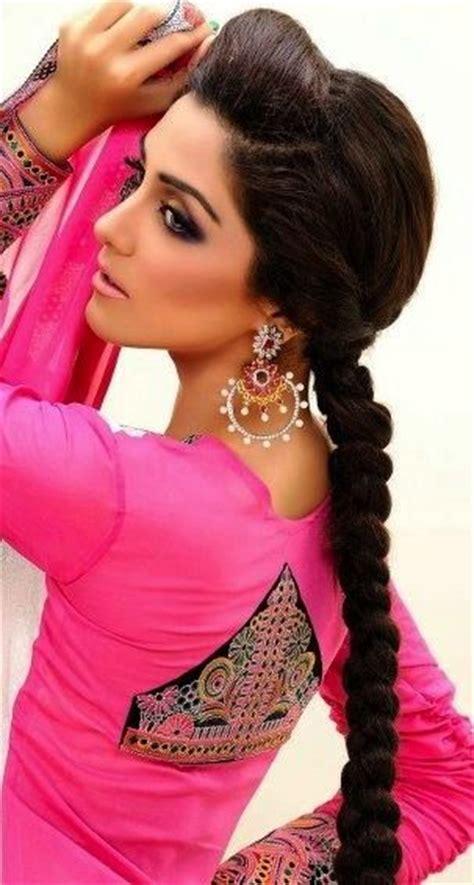 pakistani hair plait side braid hairstyles braids and wedding on pinterest