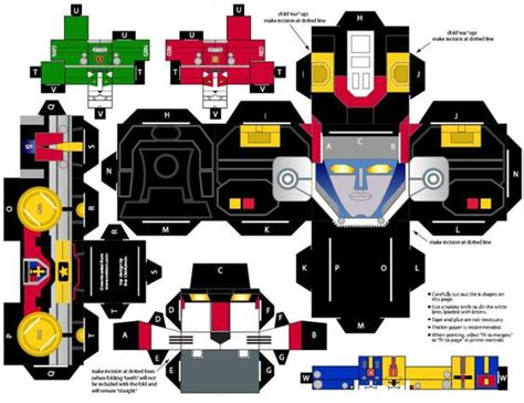 papercraft voltron search papercraft