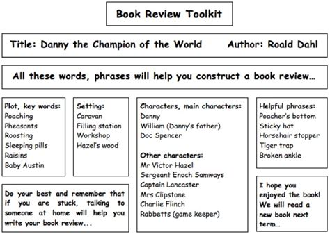 World Literature Book Review by Homework Yr 1 6 Holy C Of E Vc Primary School Halstead Essex Uk Www