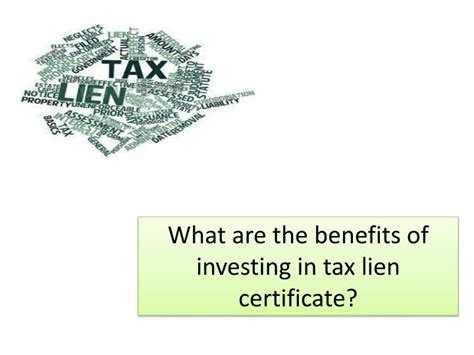 tax liens certificates top investment strategies that work books ppt what are the benefits of investing in tax lien