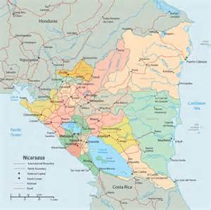 Nicaragua World Map by Nicaragua Kartenrand