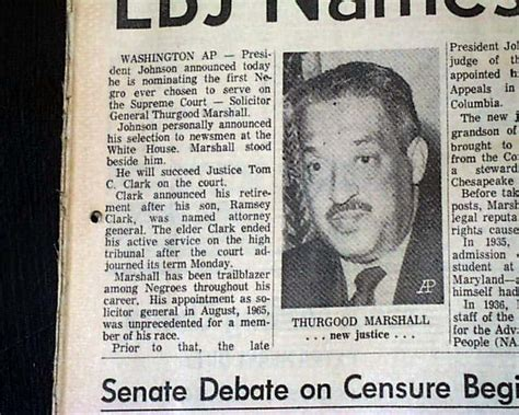 american supreme thurgood marshall becomes the american