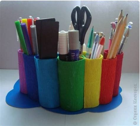 toilet desk organizer diy rainbow desk organizer from toilet paper rolls the