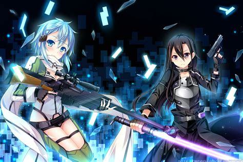 Gun Gale Sword grandia artist gun gun gale kirigaya kazuto shinon sao sword sword weapon