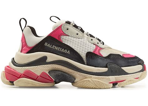 pink balenciaga sneakers balenciaga s black pink w