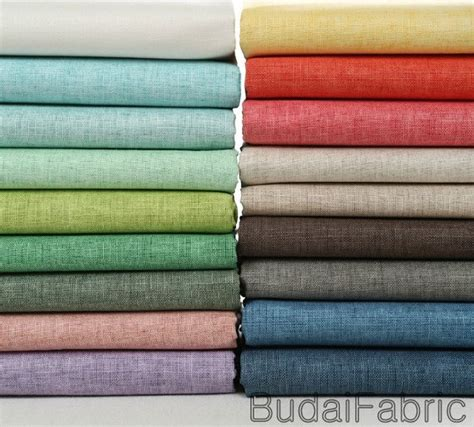 color linen solid color wax coating linen fabric by the yard cotton fabric