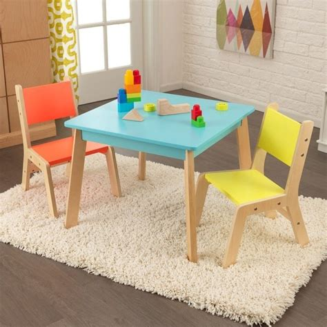 kidkraft patio set kidkraft modern table and 2 chair set in multi color 26322