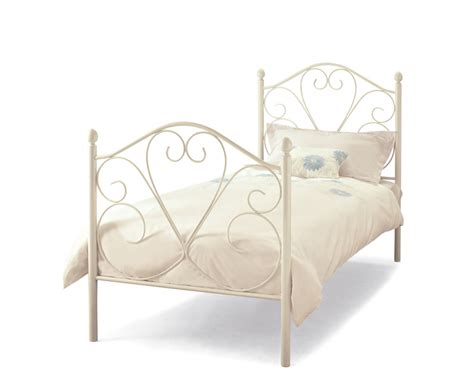 white metal bed frame isabella white metal bed frame