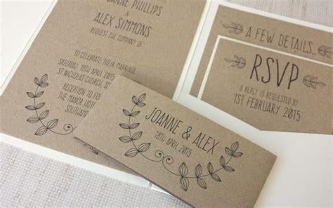 Wedding Stationery Handmade - rustic handmade wedding invitations cobypic
