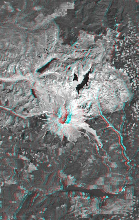 space images anaglyph mount st helens washington state