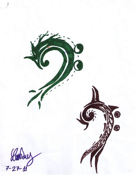 bass clef tattoos bass clef awesome so much like my current
