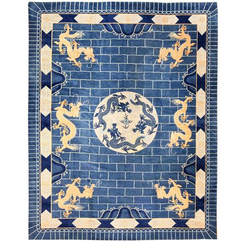 art deco china for sale blue chinese art deco rug for sale at 1stdibs