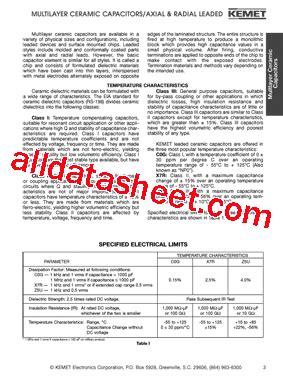 kemet capacitor datasheet c320c339g5u5ha datasheet pdf kemet corporation