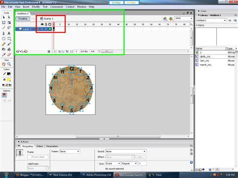 cara membuat jam dinding dengan macromedia flash 8 ade fakhrudin cara membuat animasi jam dinding