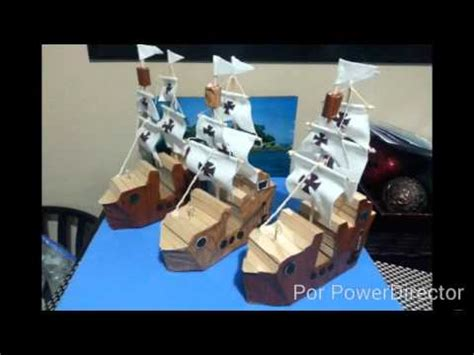 como hacer los tres barcos de cristobal colon pasos para hacer los barcos de las 3 carabelas youtube