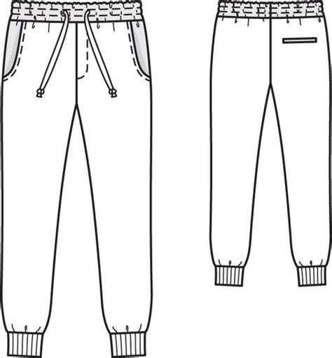 pattern black and white pants image gallery jogging pants sewing pattern