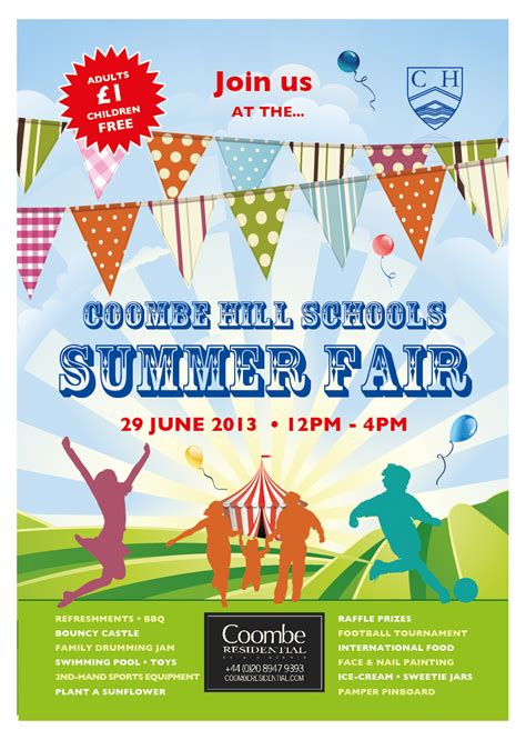 The School Summer Fair Poster Spring Thing Pinterest Summer Fair School And Summer Summer Poster Template