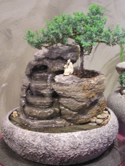 small water fountain small fountain with live bonsai ss155 natural creations