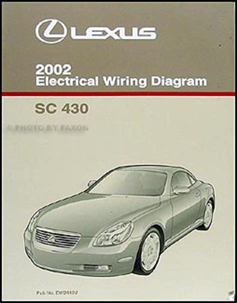 electric and cars manual 2002 lexus is security system 2002 lexus sc 430 wiring diagram manual original electrical schematic oem sc430