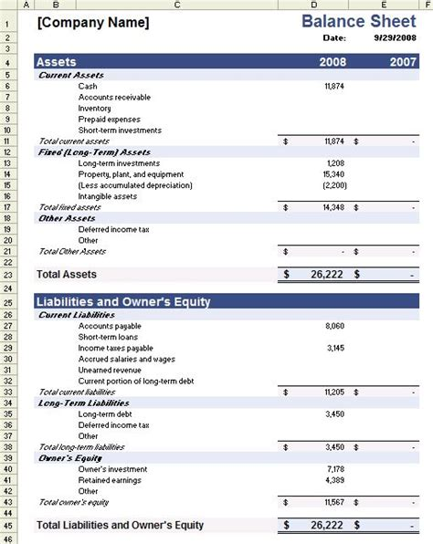 accounting balance sheet template the 25 best ideas about balance sheet template on