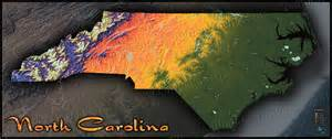 map of carolina topographic style of physical