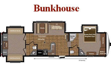 Bunkhouse 5th Wheel Floor Plans best 25 travel trailer floor plans ideas on pinterest