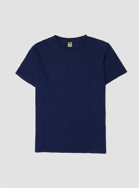 Navy Tshirt velva sheen rolled regular t shirt navy in blue for lyst