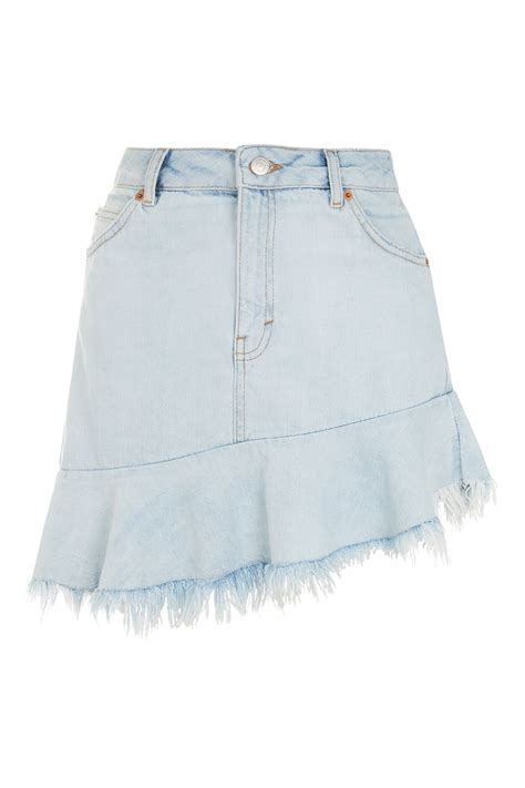 asymmetrical denim skirt topshop