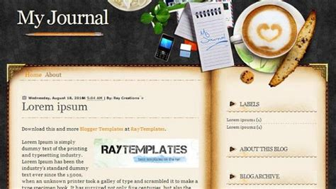 personal journal template free beautiful and colorful templates to