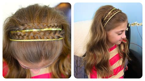 cute hairstyles headband braid double braid sparkly headband braided headbands cute