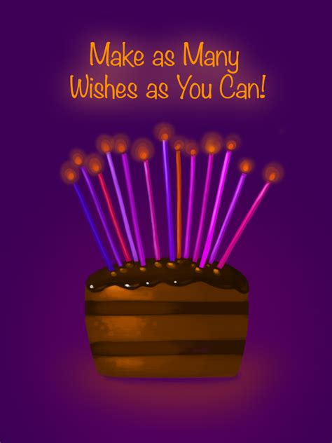 birthday cards you can make make as many wishes as you can free birthday cards