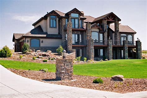 luxury homes front elevation picture