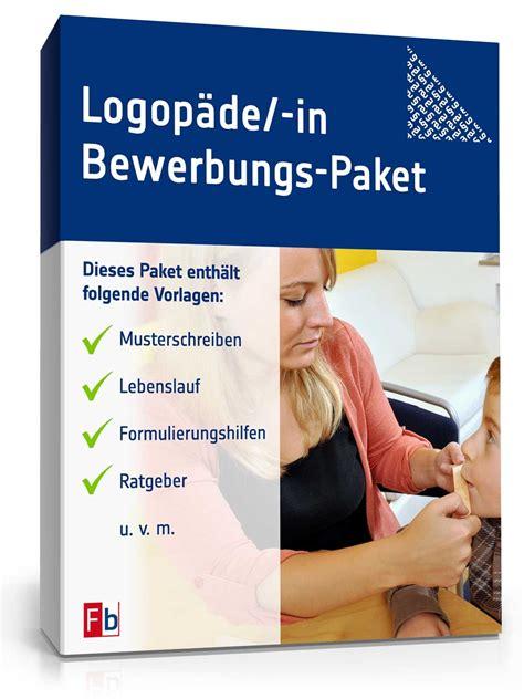 Anschreiben Bewerbung Ausbildung Logop Die bewerbungs paket logop 228 die muster zum