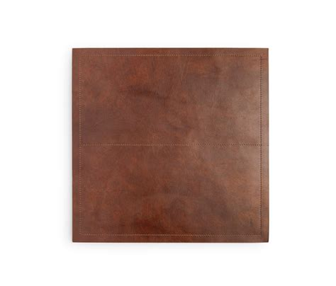 residential dining room placemats evan square tobacco placemat full grain leather pack of