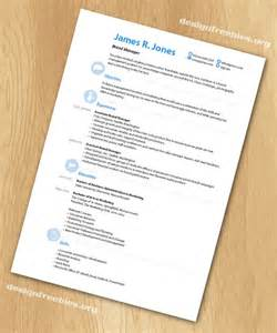Resume Templates Indesign Free Indesign Templates Simple And Clean Resume Cv With