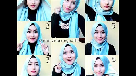tutorial kerudung pesta youtube cara memakai jilbab pashmina 3 tutorial simple youtube