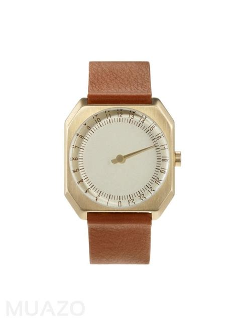 Blind Barber Pomade Slow Jo 24 Hour One Hand Watch Gold Dial Gold Case Brown
