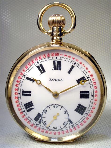 rolex antique swiss solid gold pocket 9 kt gold
