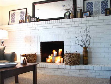 Painted Brick Fireplace Ideas by Planning Ideas Painting Brick Fireplace Ideas
