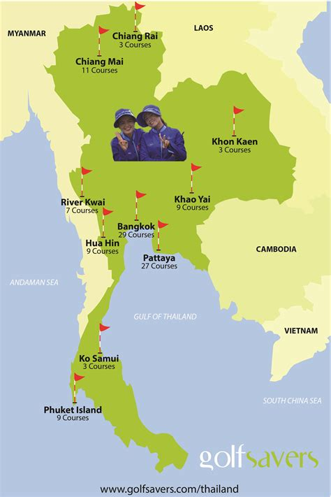 map world golf thailand golf courses map guide to thailand golf courses