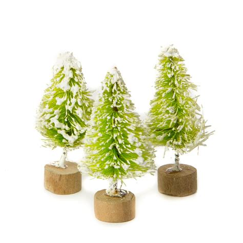 miniature bottle brush trees miniature frosted lime green bottle brush trees