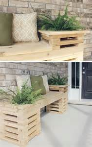 Small Wooden Bench Indoor 20 Rustic Diy Wooden Crate Ideas Home Design And Interior