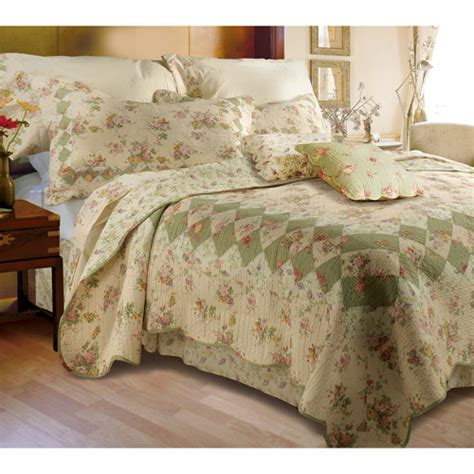 Ivory Quilt Set global trends bloomfield ivory quilt bedding set walmart