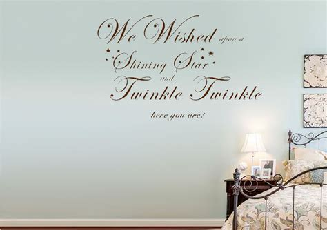 Kitchen Wall Stickers Uk we wished upon a shining star grey text quotes wall
