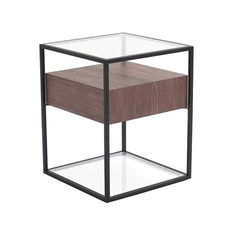 Contemporary Side Tables Claro Contemporary Side Table Walnut By Moe S Home