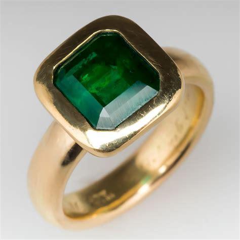 mens  carat emerald ring  antique  tiffany