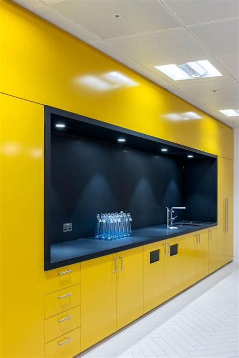Microwave Kitchen Cabinet Best 25 Yellow Office Ideas On Pinterest Yellow Home
