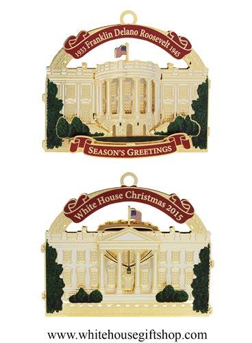 2015 white house historical ornament honoring president
