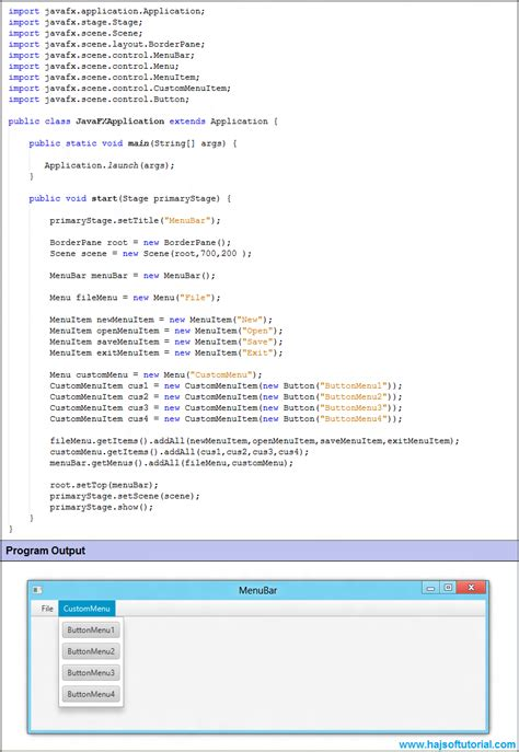 javafx custom layout javafx custommenuitem javafx tutorial