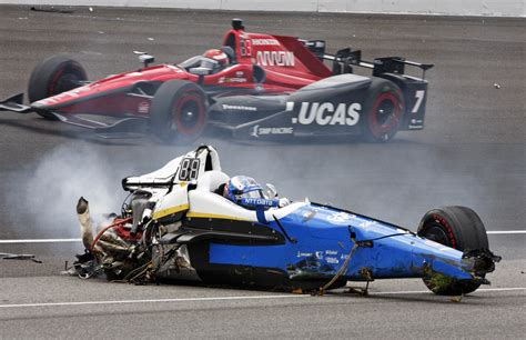 indy car crash indy 500 dixon knocked out after crash time